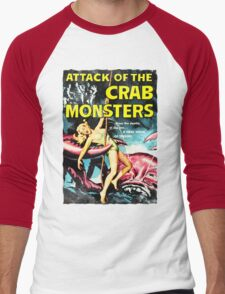 Attack of the Crab Monsters! Vintage  Men's Baseball ¾ T-Shirt
