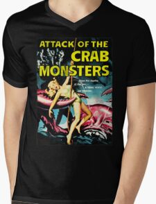 Attack of the Crab Monsters! Vintage  Mens V-Neck T-Shirt