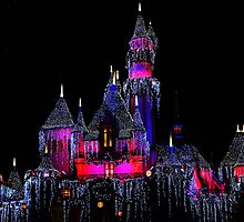 Snow White's Castle at Christmas by Michael Lehman