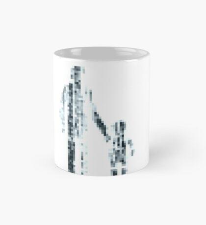 8 bit pixel pedestrians (dark) Mug