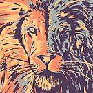 Lion yellow by weirdbird