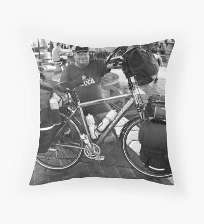 Travelin' Man Throw Pillow