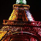 Parisian Mosaic - Piece 21 - The Eiffel Tower Night Light by Igor Shrayer