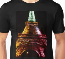 Parisian Mosaic - Piece 21 - The Eiffel Tower Night Light Unisex T-Shirt