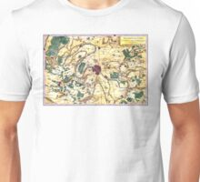 Map of the environs of Paris, France, Bonne,1780 Unisex T-Shirt