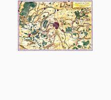 Map of the environs of Paris, France, Bonne,1780 Unisex T-Shirt