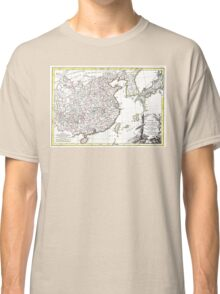 Map of China, Korea, Japan and Formosa - Bonne - 1770 Classic T-Shirt