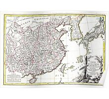 Map of China, Korea, Japan and Formosa - Bonne - 1770 Poster