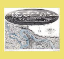 Vicksburg-Fortifications map-Mississippi-1863 Kids Tee
