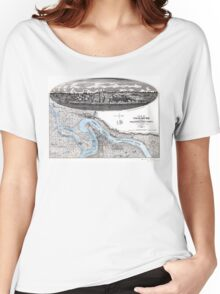 Vicksburg-Fortifications map-Mississippi-1863 Women's Relaxed Fit T-Shirt