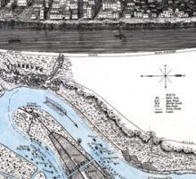Vicksburg-Fortifications map-Mississippi-1863 Sticker