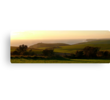 South Downs Coastal Panorama Canvas Print