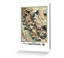 California - United States - 1888 Greeting Card