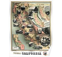 California - United States - 1888 Poster
