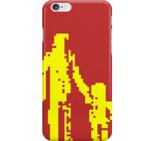 1 bit pixel pedestrians (yellow) iPhone Case/Skin