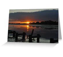 Budgewoi lake,,20-10-2010.Sunrise.. Greeting Card