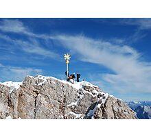 Zugspitze Summit, border of Germany & Austria Photographic Print