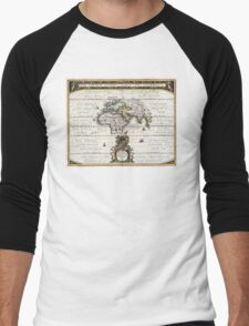 World Map - Geographicus Orbis Terrarum - 1650 Men's Baseball ¾ T-Shirt
