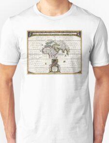 World Map - Geographicus Orbis Terrarum - 1650 Unisex T-Shirt