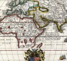 World Map - Geographicus Orbis Terrarum - 1650 Sticker