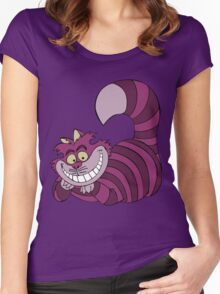 Smiling Cheshire Cat Women's Fitted Scoop T-Shirt