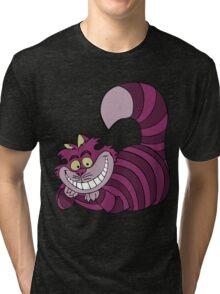 Smiling Cheshire Cat Tri-blend T-Shirt