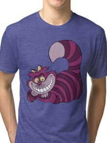 Smiling Cheshire Cat Tri-blend T-Shirt