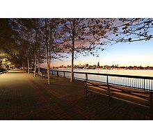 Promenade on the Hudson Rv.! Photographic Print