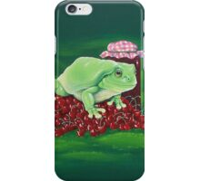 Jamming - frog and cherries iPhone Case/Skin