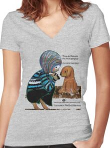 Smile Baby Pet Portrait Photographer CUSTOMISED Women's Fitted V-Neck T-Shirt