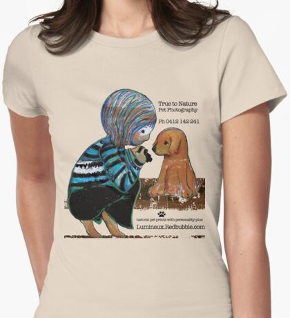 Smile Baby Pet Portrait Photographer CUSTOMISED Womens Fitted T-Shirt