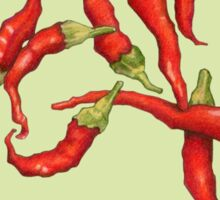 Red Hot Chillies green Sticker