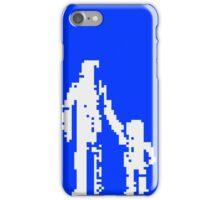 1 bit pixel pedestrians (white) iPhone Case/Skin