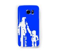 1 bit pixel pedestrians (white) Samsung Galaxy Case/Skin