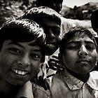 Children in Hampi 2 by Bruno Amaral Pereira
