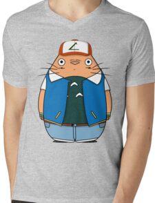 Totoro Ketchum Mens V-Neck T-Shirt