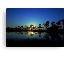 Sunrise at the  wildlife management area Canvas Print