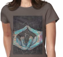 Vishuddha - throat chakra mudra  Womens Fitted T-Shirt