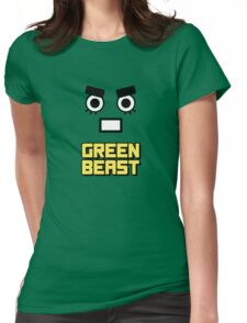 Rock Lee - Green Beast!! (Yellow) Womens Fitted T-Shirt