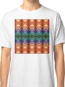 Decorative Orange Blue Abstract Classic T-Shirt