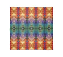 Decorative Orange Blue Abstract Scarf