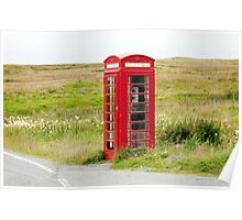 The Ubiquitous British Phone Box Poster