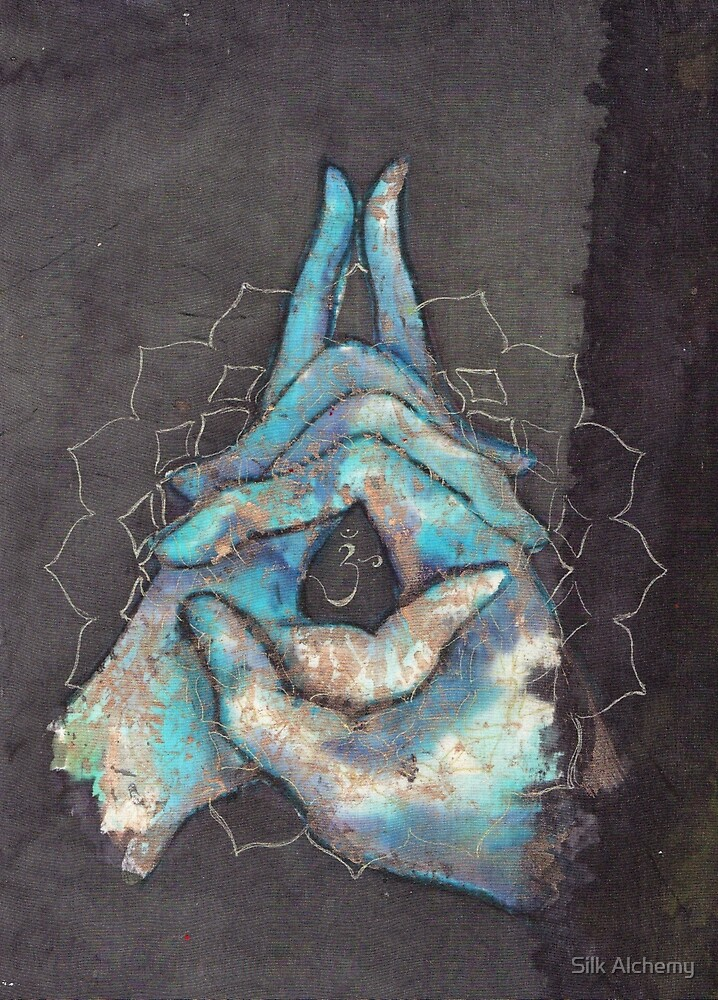 crown chakra mudra  by Ti Campbell-Allen