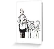 Serving the Cats Greeting Card