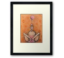 1 Pink Balloon Framed Print