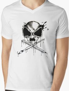 Art Is Also a Weapon Mens V-Neck T-Shirt