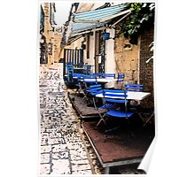 Lonely Cafe - Otranto, Italy Poster