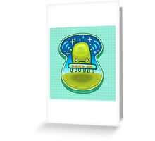 Dead Ufo Kiddo Greeting Card