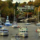 Perkins Cove Harbor by Monica M. Scanlan