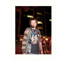 Half Bearded Man Art Print